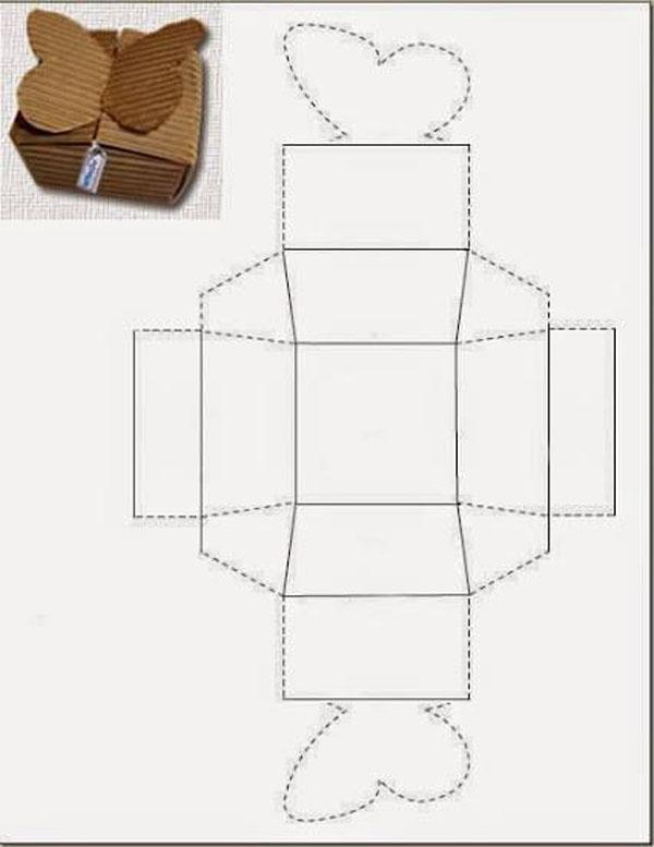 caixa em papel dobradura