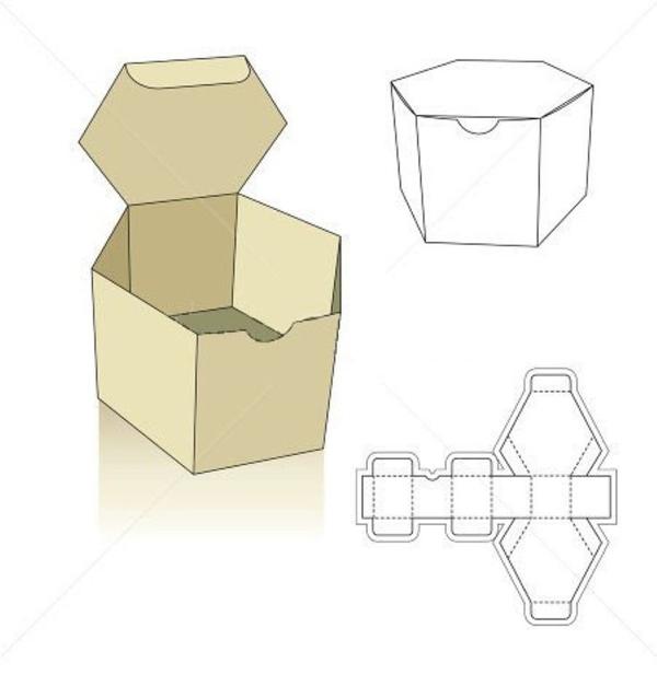 caixa em papel grande