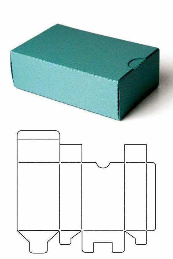 caixa em papel facil