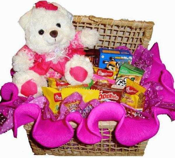 cesta com urso