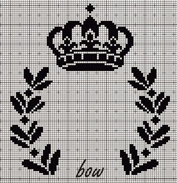 Coroa de ponto cruz grande