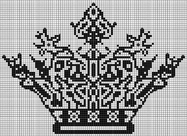 Coroa de ponto cruz alta