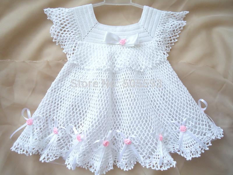 vestido de crochê infantil rodado