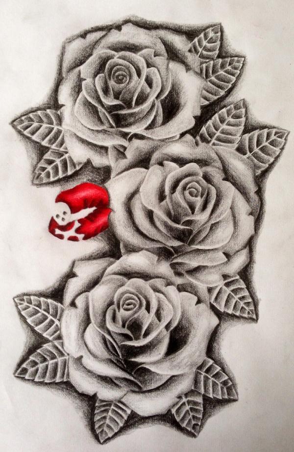 desenhos de flor preto e branco