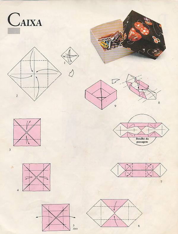 caixa em papel comum