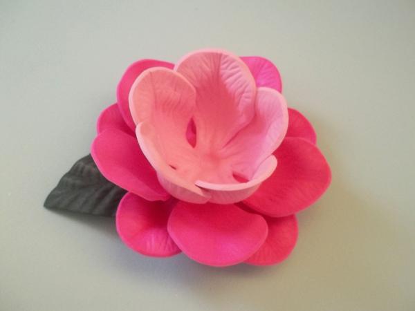 porta bombom em eva de flor com duas cores