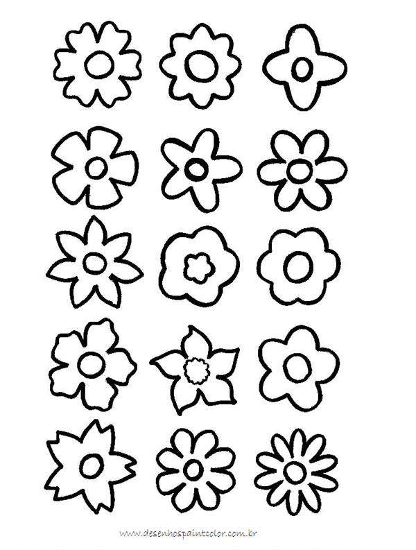 desenhos de flor pequenos