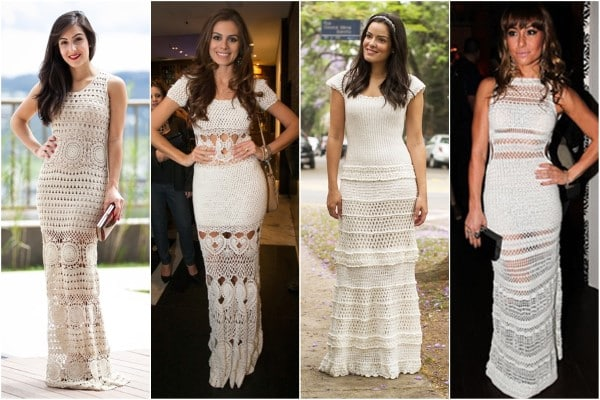 vestidos de croche longo diferentes