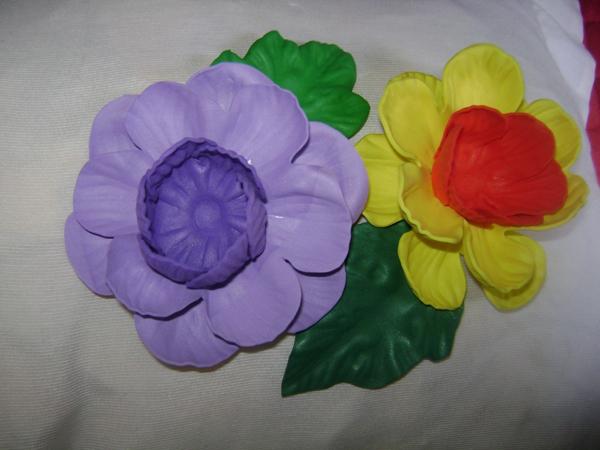 porta bombom em eva de flor colorida
