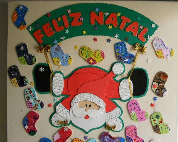 painel escolar de Natal com faixa