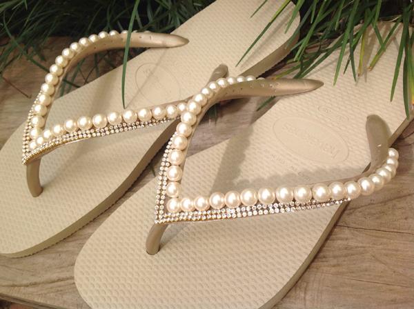 chinelos decorados fininho