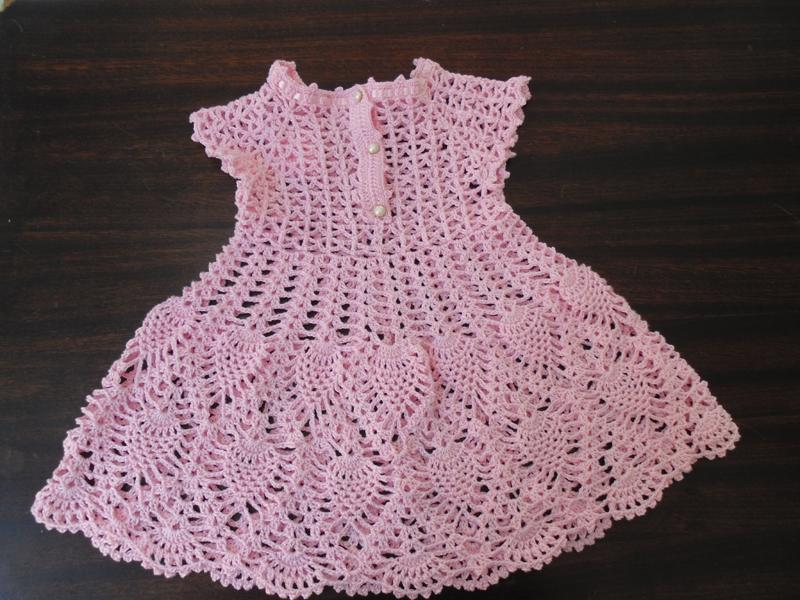 Vestido De Crochê Para Bebê Com Gráfico Artesanato Passo A