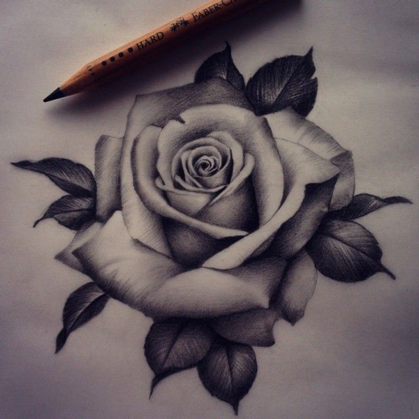 desenhos de flor realistas