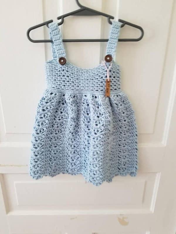 vestido de crochê de criança