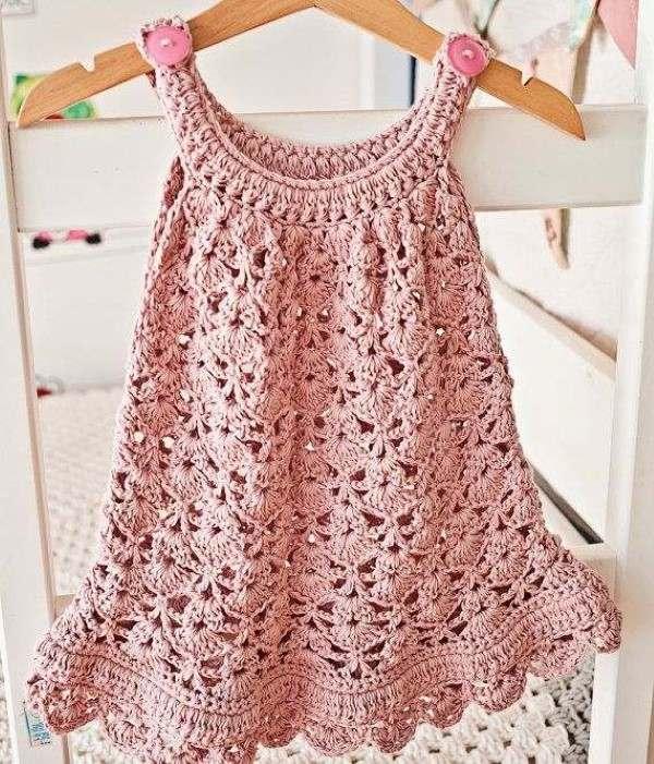 vestidos de croche infantil com graficos