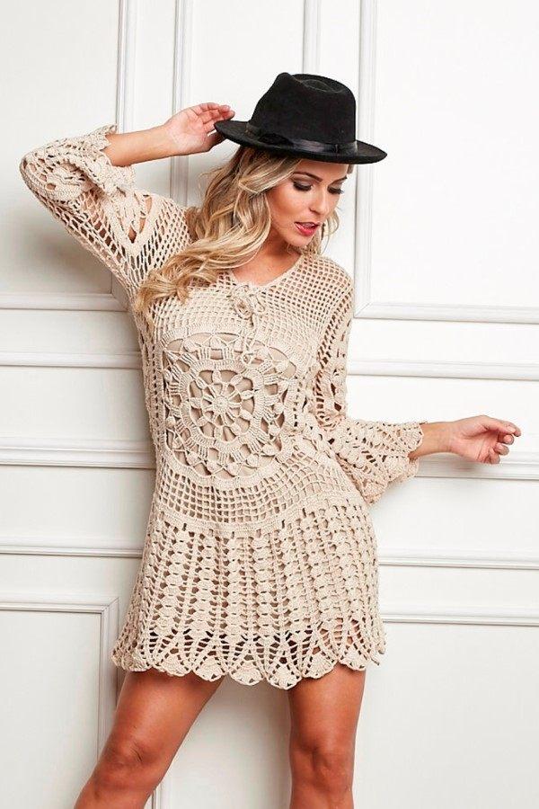 vestido de croche feito a mao