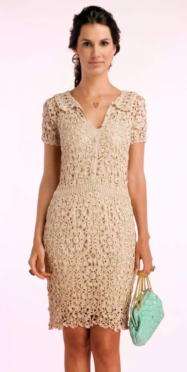 modelos de vestidos de croche