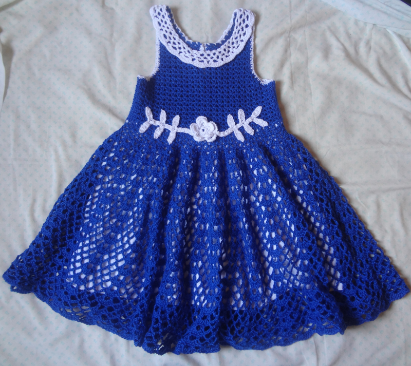 vestido de crochê infantil de festa