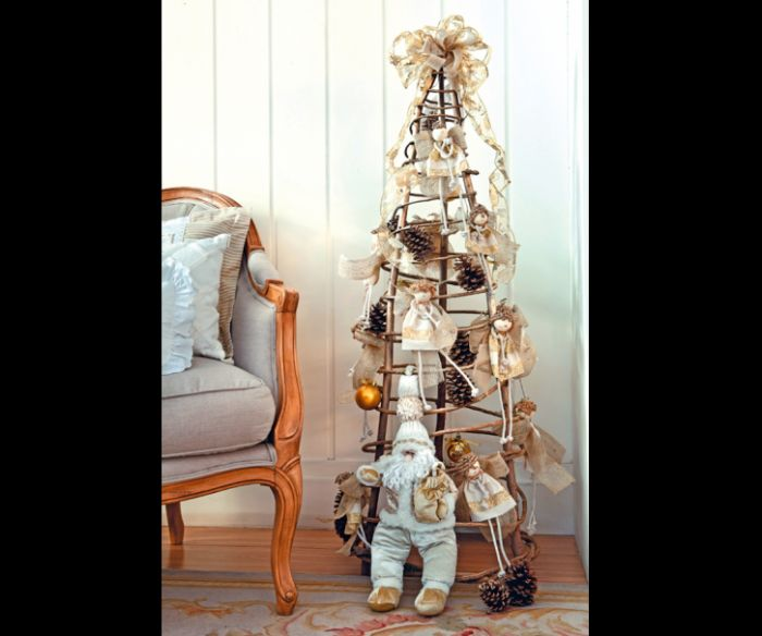 árvore natalina de reciclável