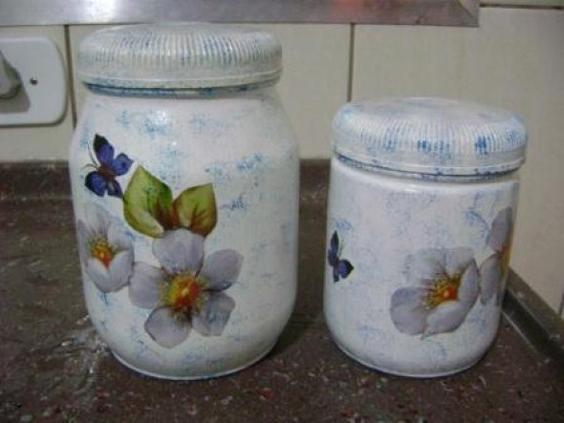 decoupage no vidro flor