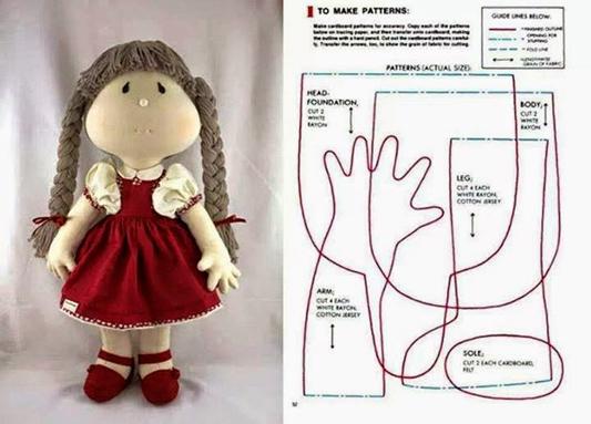boneca de tecido fofa