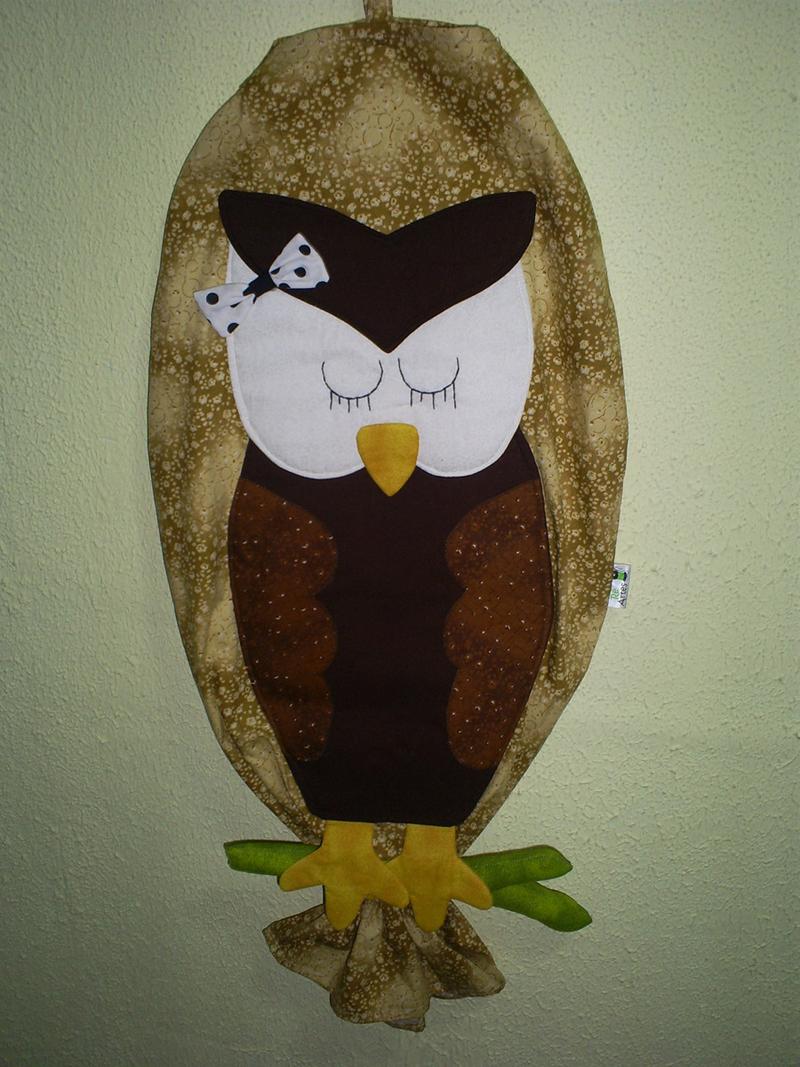puxa saco de coruja marrom