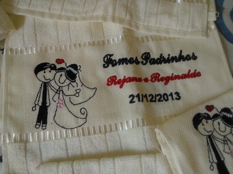 lembrancinha de casamento bordado