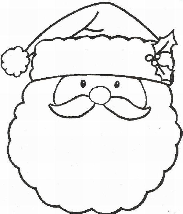 simbolos de natal rosto noel