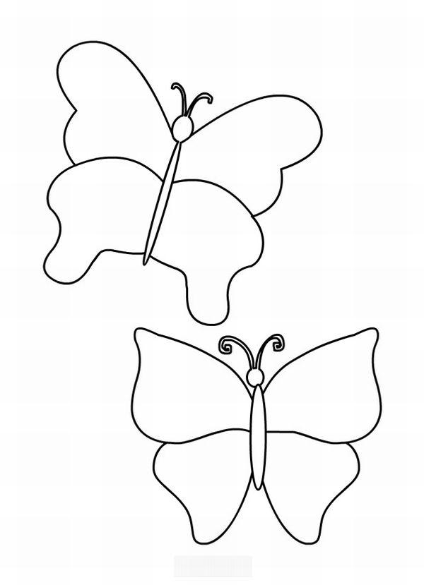 borboleta de papel dupla