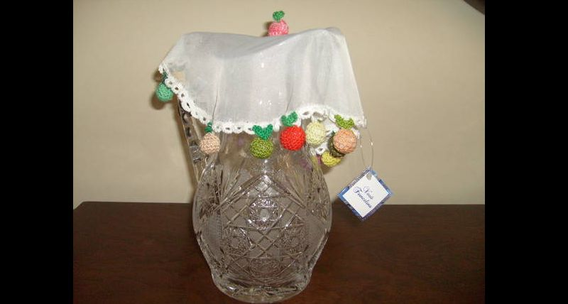 cobre jarra croche
