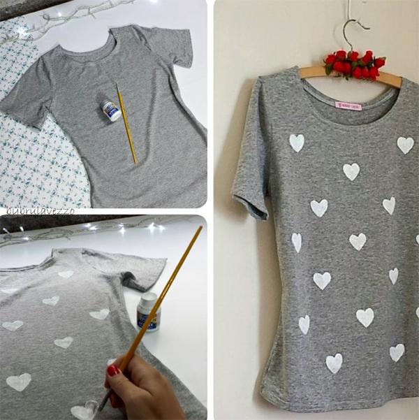 customização de camisetas pintada