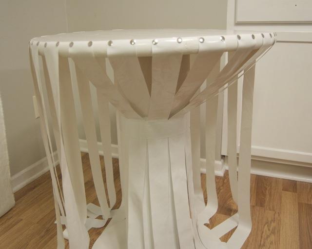 como fazer mesa com papelão