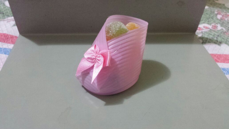 sapatinho de copo descartável simples
