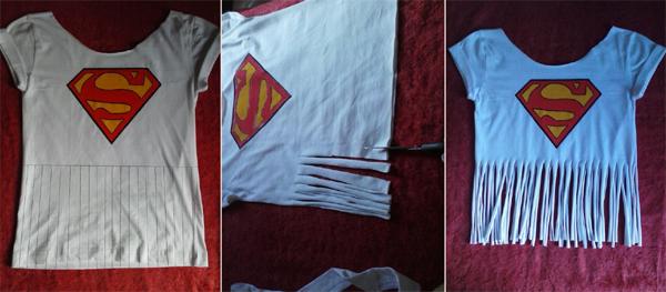 customização de camisetas tirinhas
