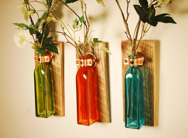 garrafas pintadas com verniz vitral