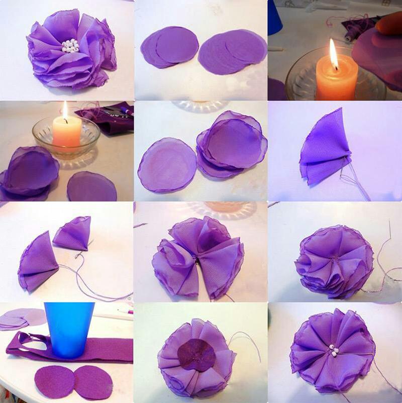Como Fazer Flor De Tecido 30 Modelos Artesanato Passo A Passo