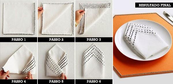dobradura de guardanapo de papel camadas