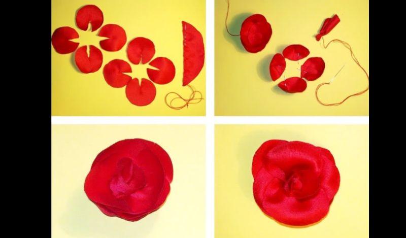 flor com tecido tutorial