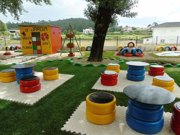 pneus pintados para jardim como fazer