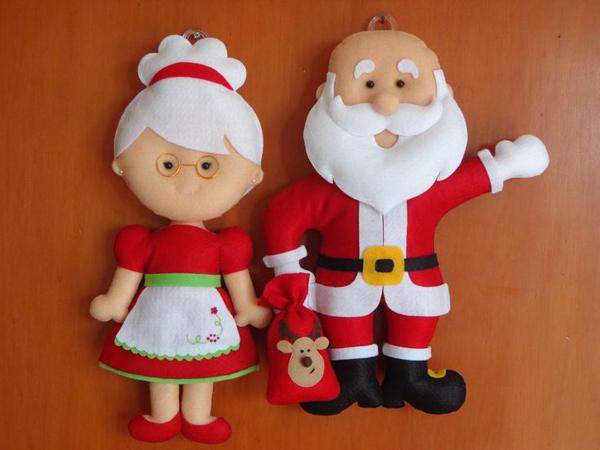 simbolos de natal papai noel e mamae