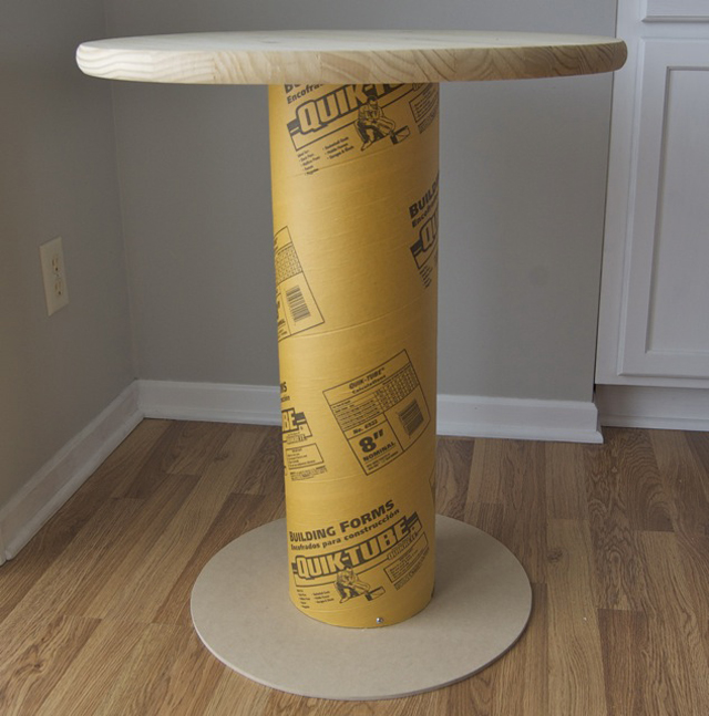 passo a passo mesa com papelão