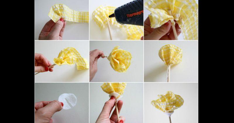 flor com tecido como fazer