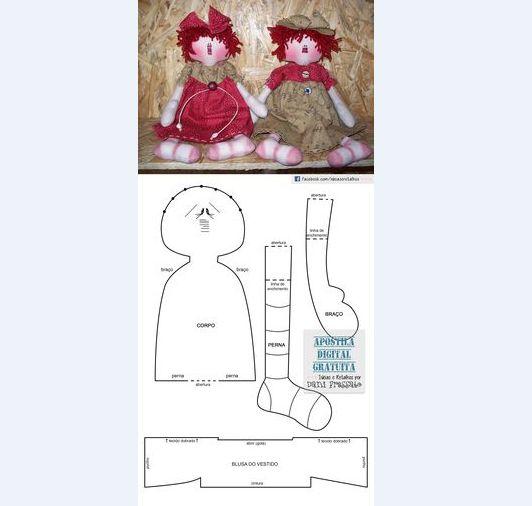 passo a passo boneca de tecido