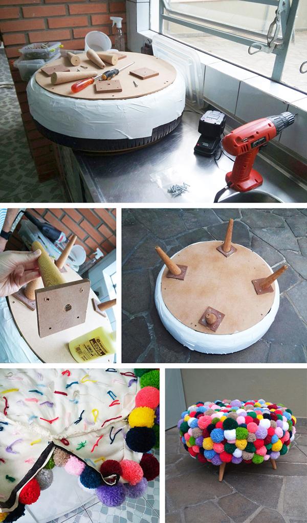 Aparador Buffet Sala De Jantar ~ Reciclagem de Pneus Velhos 30 Modelos Artesanato Passo a Passo!