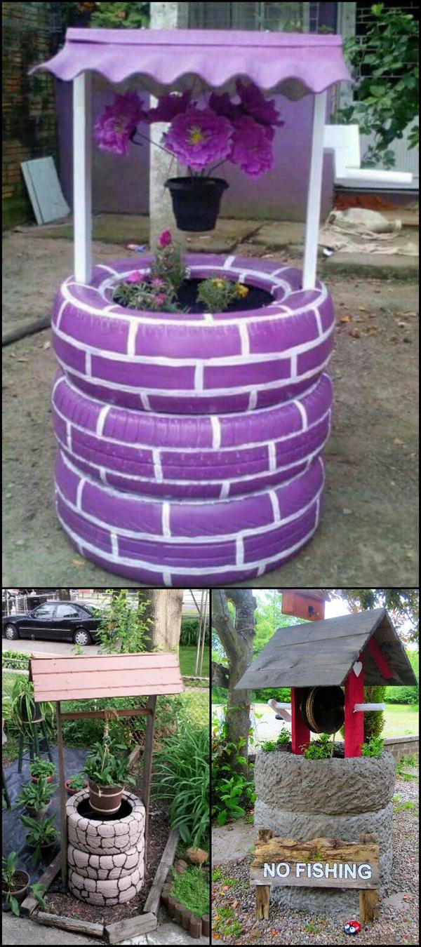 reciclagem com pneus poço