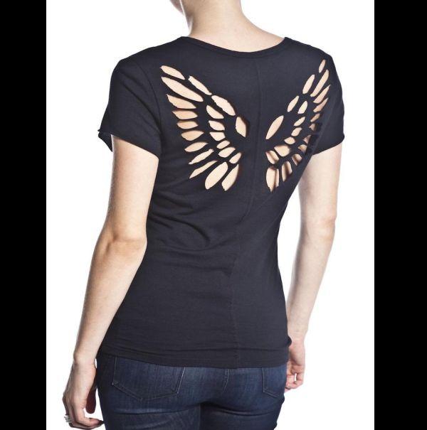 customização de camisetas com asa