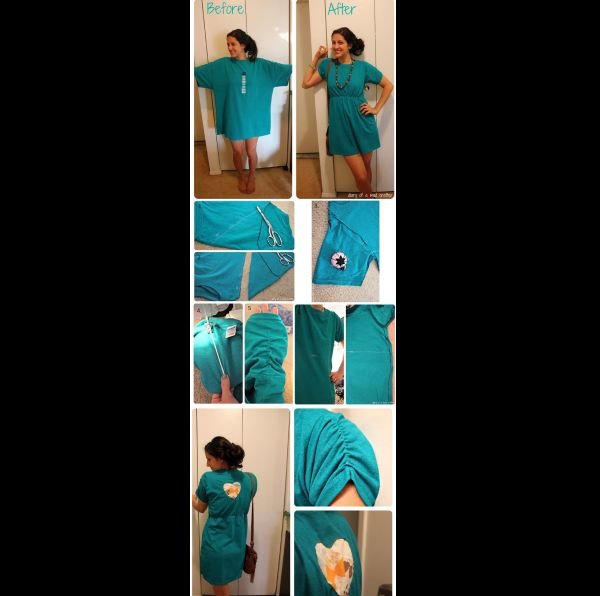 customização de camisetas vestido
