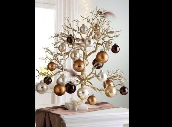 árvore natalina de galho