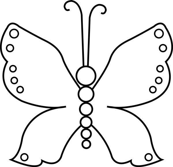 molde borboleta de papel