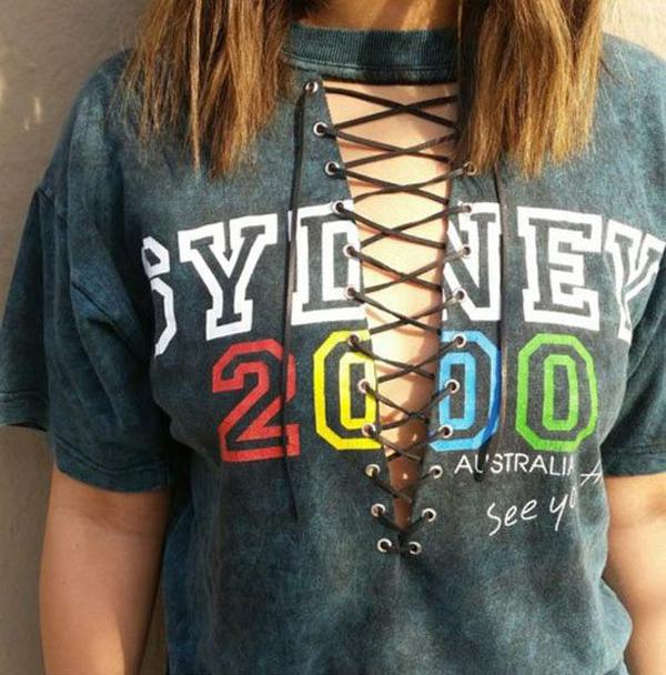 customização de camisetas cordão